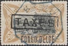Congo Belge 1909 COB TX12. État Indépendant Du Congo, Taxe. 50 C  Train - Trains