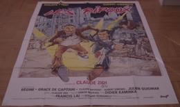 AFFICHE CINEMA ORIGINALE FILM LES RIPOUX NOIRET LHERMITTE ZIDI 1984 BD DESSIN CLAYES MONTMARTRE - Posters
