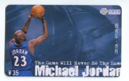 Télécarte China Tietong : Basket - Michaël Jordan - Sport