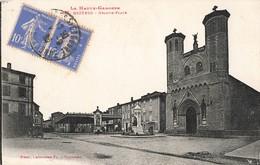 31 Cazeres Grande Place Cpa Cachet Cazeres Sur Garonne 1935 - Autres Communes
