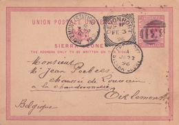 Entier  Postal Stationery - Sierra Leone   - 1896 - Sierra Leone (1961-...)