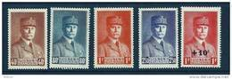 "FR YT 470 à 473 + 494 "" Effigies Du Maréchal Pétain "" 1941-42 Neuf** - France"