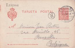 Entier  Postal Stationery - Espagne -  Cachet Taxe - 1913 - 1850-1931