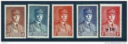 "FR YT 470 à 473 + 494 "" Effigies Du Maréchal Pétain "" 1941-42 Neuf* - France"