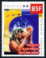 POLYNESIE 1999 - Yv. 608 ** SUP  Faciale= 0,71 EUR - An 2000 : Tahitien Et Conque  ..Réf.POL24722 - Neufs