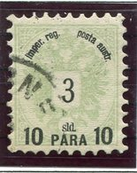 AUSTRIAN POST In The LEVANT 1886 10 Para On 3 Soldi Perforated 9½, Used.  ANK 14 Ib;  SG 21 - Levant Autrichien