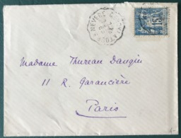 France N°101 Sur Lettre (LSC) Cachet Convoyeur TOURS à NEVERS - (B179) - 1877-1920: Semi-Moderne