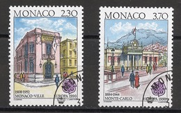 Monaco 1990 Y&T N°1724a à 1725a - Michel N°1961C à 1962C (o) - EUROPA - Usati