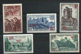 """FR YT 489 à 492 502 """" TP Surchargés En Rouge """" 1941 Neuf* - France"""