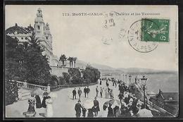 CPA MONACO - Monte-Carlo, Le Théâtre Et Les Terrasses - Terrassen