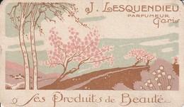 Carte Parfumée - J.Lesquendieu Parfumée Au Chardon D'écosse - Anciennes (jusque 1960)