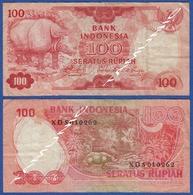 INDONESIA 100 Rupiah 1977 RHINOCEROS And JUNGLE SCENE - Indonesia