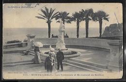 CPA MONACO - Monte-Carlo, Les Terrasses Et Monument De Berlioz - Terrassen
