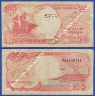 INDONESIA 100 Rupiah 1992 SAILING BOAT PERAHU PINISI And VULCANO ANAK GUNUNG KRAKATAU - Indonesia