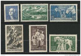 """FR YT 581 à 585 """" 6 TP De L'année """" 1943 Neuf** - France"""