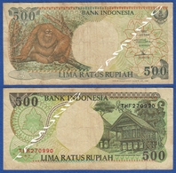 INDONESIA 500 Rupiah 1992 MONKEY ORANG UTAN And RUMAH ADAT KALIMANTAN TIMUR - Indonesia