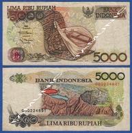 INDONESIA 5000 Rupiah 1992 MUSICAL INSTRUMENT SASANDO ROTE And LAKE DANAU KELIMUTU - Indonesia