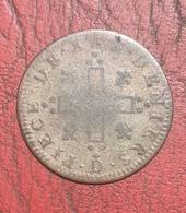 30 DENIERS AUX DEUX L COURONNÉS LOUIS XIV 1711 D Lyon - 1643-1715 Louis XIV Le Grand