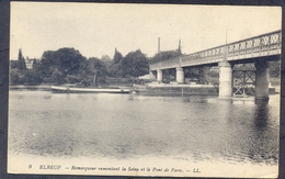 9 . ELBEUF - Remorquer Remontant La Seine Et Le Pont De Paris - Elbeuf
