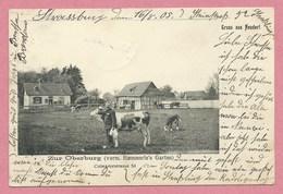 """67 - GRUSS Aus STRASBOURG NEUDORF - Ferme """" Zur Oberburg """" - Haemmerle' S Garten - Colmarersrasse 53 - Strasbourg"""