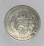 UNA PESETA 1880 ARGENT - Peru