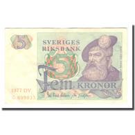 Billet, Suède, 5 Kronor, 1977, 1977, KM:51d, TB+ - Suecia