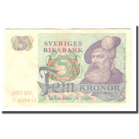 Billet, Suède, 5 Kronor, 1977, 1977, KM:51d, TB+ - Svezia