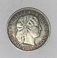 20 CENTIMES 1881 ARGENT TB - Haïti