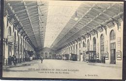 (Gare ST. LAZARE) Gréve Des Chemin De Fer - Aspect De La Salle Des Pas-Perdus - Metro, Stations