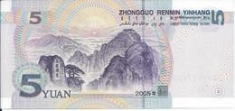 CHINE   -  5  Yuan   2005   -- UNC --   China - Cina