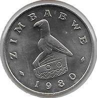 *zimbabwe 50 Cents 1980  Km 5  Bu/ms65 - Zimbabwe