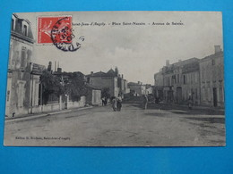 17) Saint-jean-d'angely - Place Saint-nazaire - Avenue De Saintes - Année 1908 - EDIT- Brodeau - Saint-Jean-d'Angely