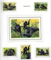Animaux- Dieren -Animals : Gorilles  - 1985   MNH-XXX - Rwanda
