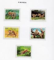 Animaux- Dieren -Animals : Léopards   1987   MNH-XXX - Rwanda