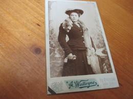 CDV Foto, Edit Alfons Watteyne, Brugge - Ancianas (antes De 1900)