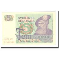 Billet, Suède, 5 Kronor, 1979, 1979, KM:51d, TTB - Suecia