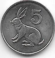 *zimbabwe 5 Cents 1980  Km 2 Bu/ms65 - Zimbabwe