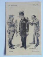 Dworak 57 Pola Marine Navy Humor K.U.K. KuK Kriegsmarine Caricature Karikatur 1917/18. C.F.P. Fano Nr 28a - Warships