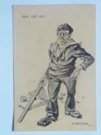 Dworak 58 Pola Marine Navy Humor K.U.K. KuK Kriegsmarine Caricature Karikatur 1917/18. C.F.P. Fano Nr 30a - Guerre