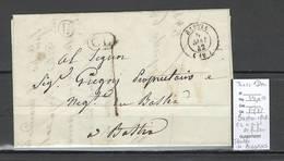 France - Bastia - Corse - Cachet CL + Facteur IDENTIFIEE DE BIGORNO -1842 - 1801-1848: Précurseurs XIX