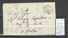 France - Bastia - Corse - Cachet CL + Facteur IDENTIFIEE DE BIGORNO -1842 - Marcophilie (Lettres)