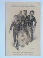 Dworak 60 Pola Marine Navy Humor K.U.K. KuK Kriegsmarine Caricature Karikatur 1917/18. C.F.P. Fano Nr 60a - Guerre