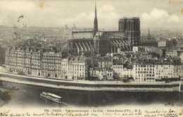 PARIS  Vue Panoramique La Cité Notre Dame ( IVe) RV - Distrito: 04