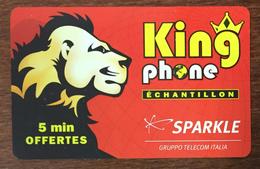 KING PHONE LION SPARKLE EXP LE 30/06/07 CARTE PRÉPAYÉE PRÉPAID PHONECARD PAS UNE TÉLÉCARTE - Francia