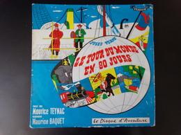 """Le Disque D'aventure """" Le Tour Du Monde En 80 Jours """" ( Pochette Abimée ) - Bambini"""