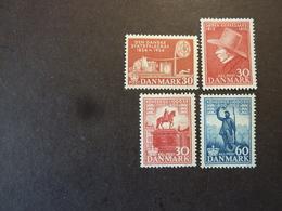 DANEMARK, Année 1954-55, YT N° 351-360-361-366 Neufs MH* - Dänemark