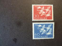 DANEMARK, Année 1956, YT N° 372 Et 373 Neufs MH* - Ongebruikt