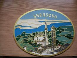 Sarajevo Stara Limena Tabla Old Tin Plate - Estaño