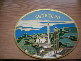 Sarajevo Stara Limena Tabla Old Tin Plate - Etains