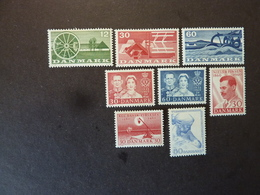 DANEMARK, Année 1960, YT N° 386 à 393 Neufs MH* - Ongebruikt